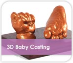 3D Baby Hand and Footprint Casting